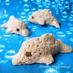 Use a 3-D mold to create these fun Rice Krispie Treat Dolphins.