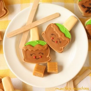 Caramel Apple Cookie Pops