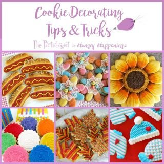 Cookie Decorating Tips and Tricks from The Partiologist. See how to make your own cookies cutter, create edible lace, imprint fondant, and more.