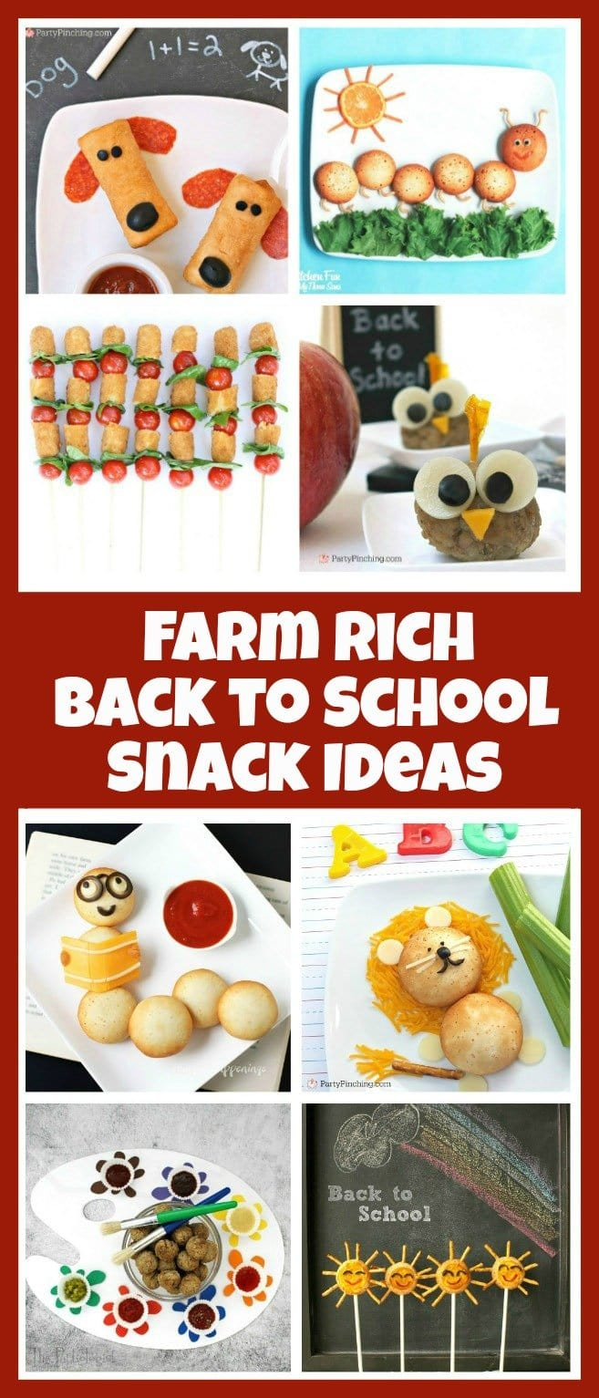 Make fun back to school snacks using Farm Rich Mozzarella Bites, Cheese Sticks, Meatballs, and Pepperoni Roll-Ups. Ad