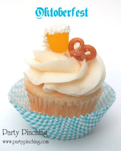 How much fun would you have serving these Octoberfest Cupcakes at your party? They are super easy to make and so cute.