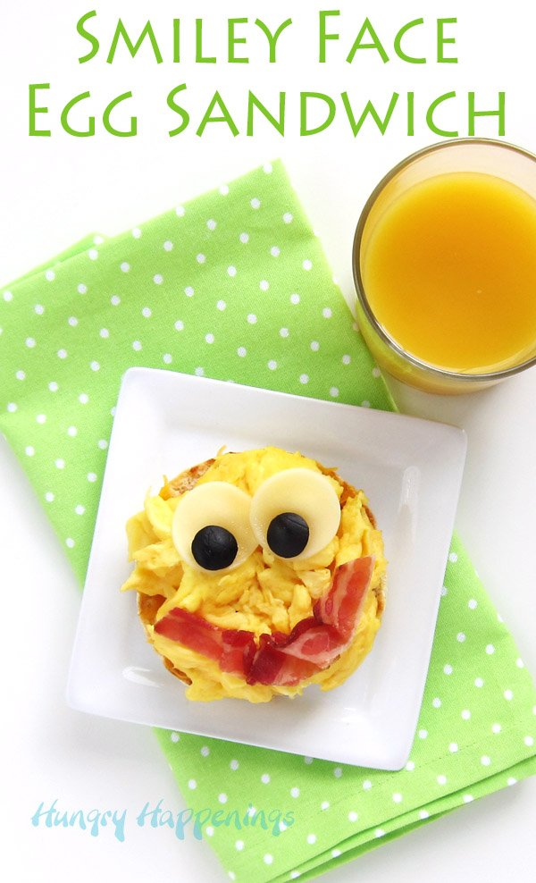 Smiley Face Egg Sandwich - Fun Food For Kids