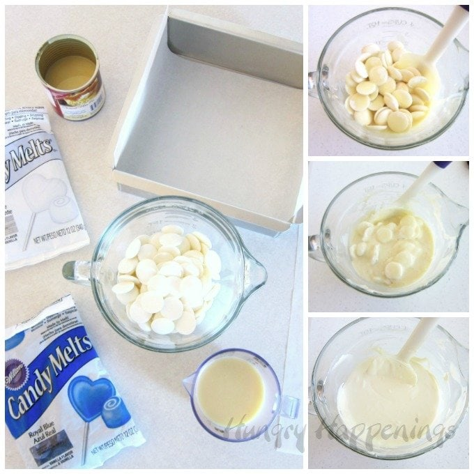 2-ingredient fudge is super easy to make using Wilton Candy Melts and sweetened condensed milk.