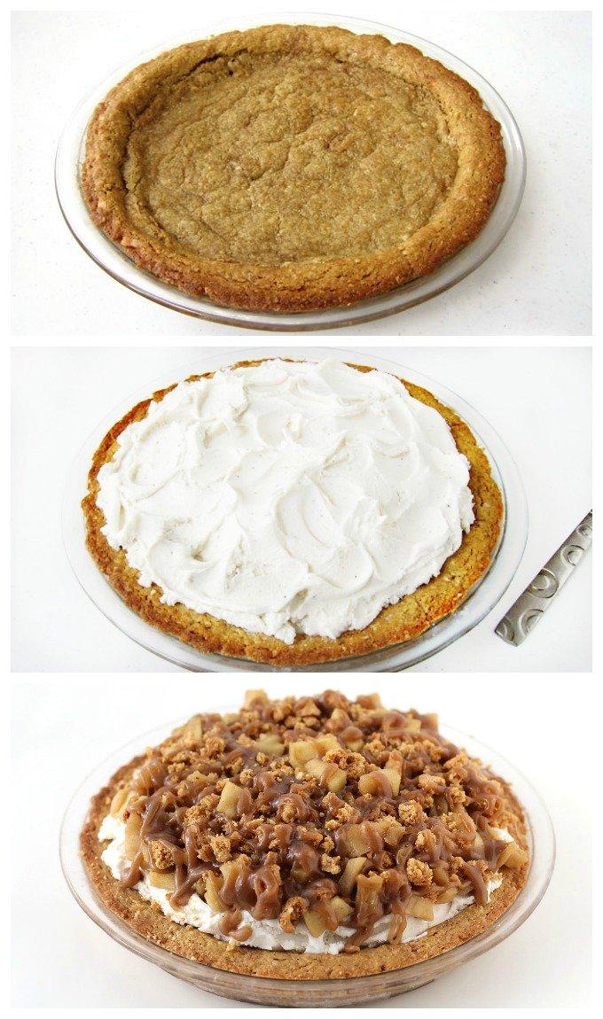 Apple Crisp Ice Cream Pie