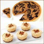 Enjoy these two quick and easy Fall Pumpkin Desserts: Chocolate Pumpkin Swirl Tart and No-Bake Mini Pumpkin Cheesecakes.