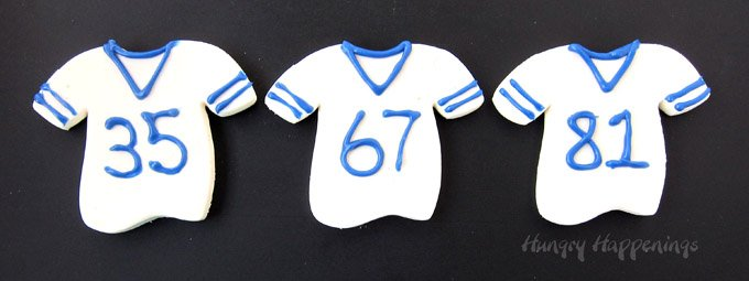 Fudge Football Jerseys - Football party food, tailgating recipes.