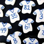 Make 2-Ingredient Fudge Football Jerseys to cheer on your favorite football team by simply decorating your treats using your team's colors.