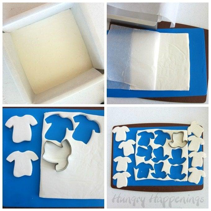 Make Fudge Football Jerseys using a t-shirt cookie cutter.