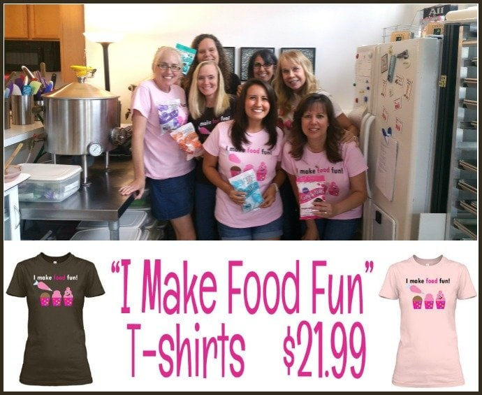 Fun Food Blogger Retreat - I Make Food Fun T-Shirts