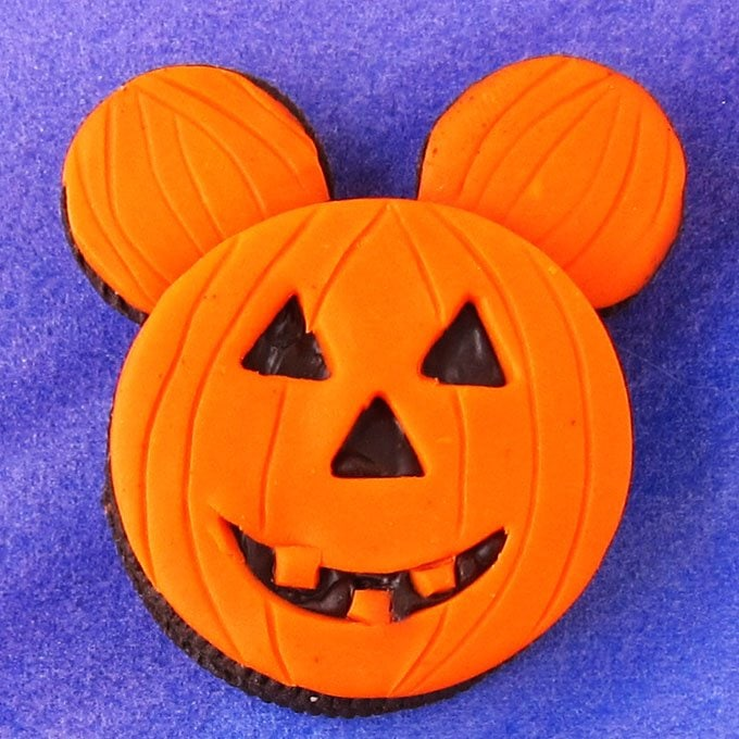 Mickey Mouse Jack-O-Lantern Oreo Cookie