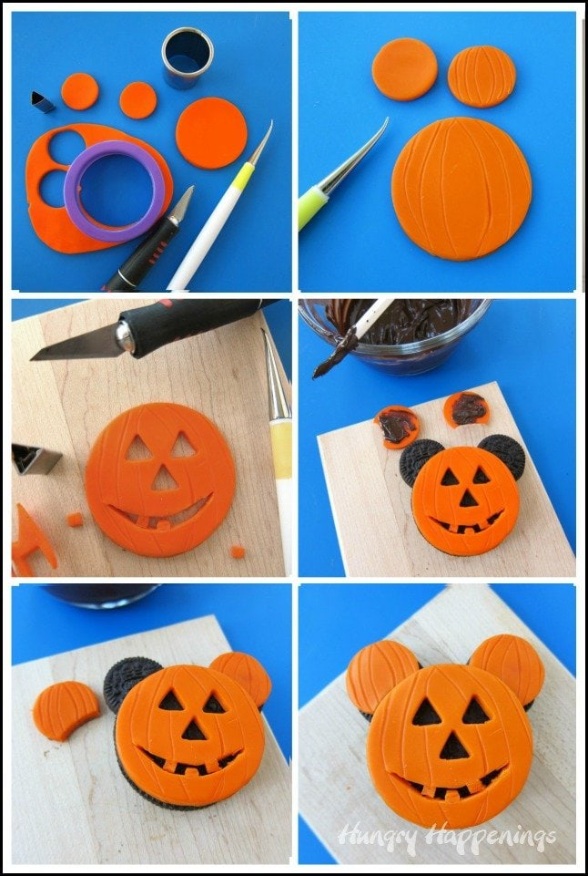 How to make a Mickey Mouse Jack-O-Lantern Oreo Cookies