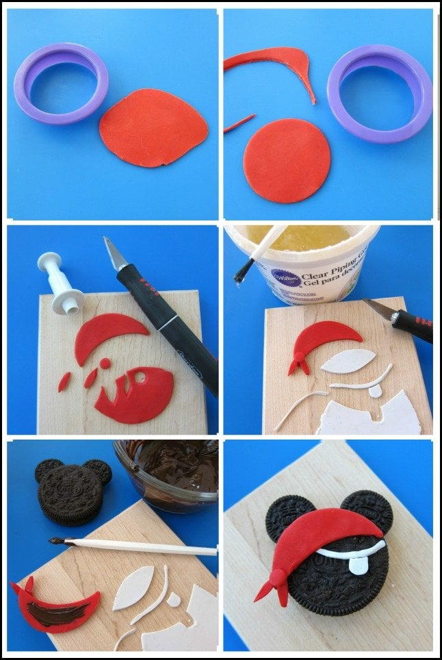 How to make a Mickey Mouse Pirate Oreo Cookie