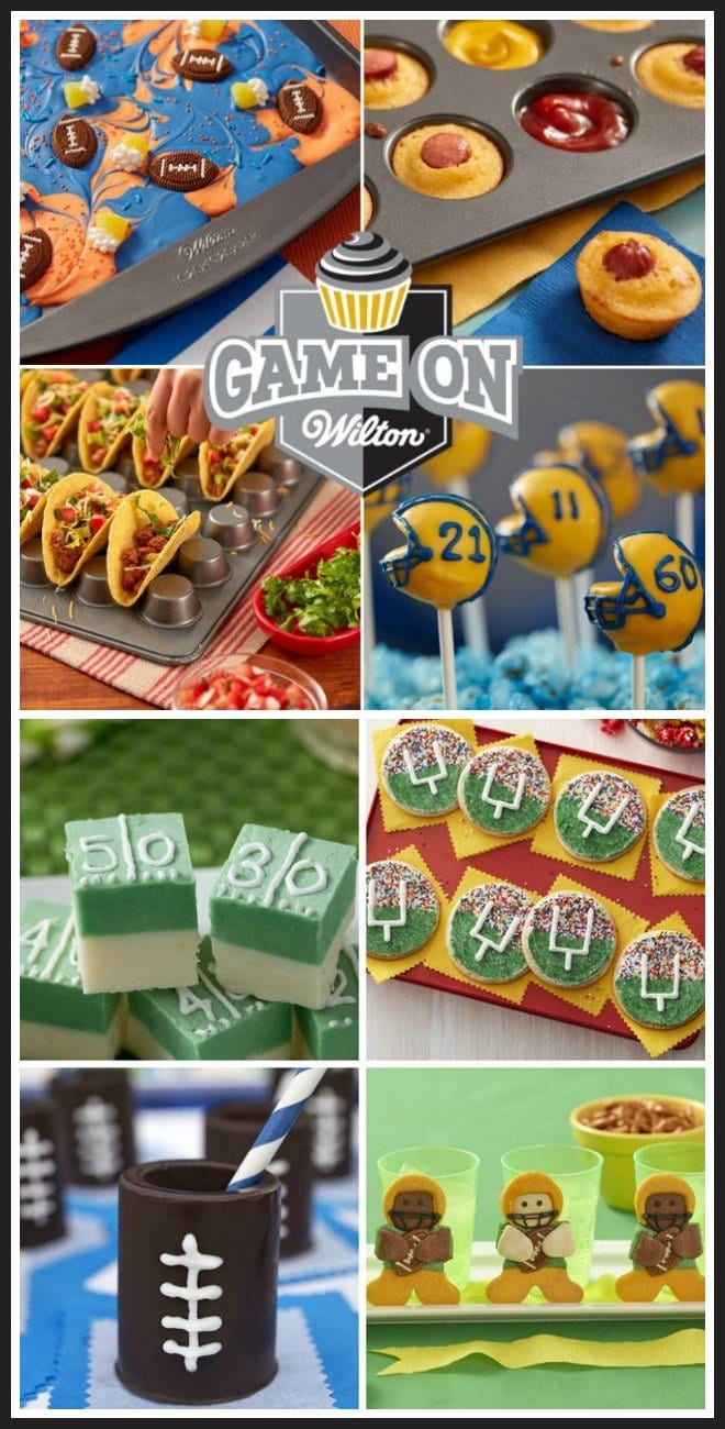 Have fun cheering on your favorite football team while snacking on some fun football themed treats.