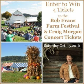 Enter to Win 4 tickets to the Bob Evans Farm Festive and the Craig Morgan Concert