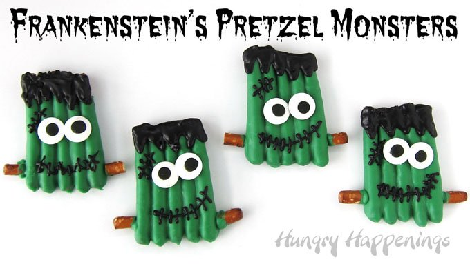 Go into your kitchen laboratory and transform a Halloween craft into these sweet Frankenstein's Pretzel Monsters.