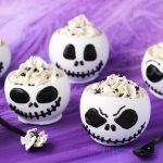 These Jack Skellington Chocolate Bowls filled with Cookies 'n Cream Cheesecake Mousse are to die for and they are perfect desserts to serve at a Halloween celebration or a Nightmare Before Christmas party.
