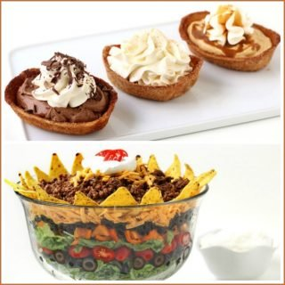 Have a Mexican Fiesta by serving a Mexican Layer Salad and Churo Boats.