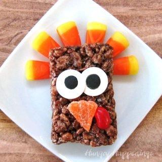 Cocoa Krispies Treat Turkeys for Thanksgiving