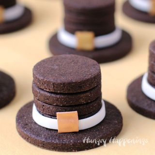 3-D Chocolate Pilgrim Hat Cookies