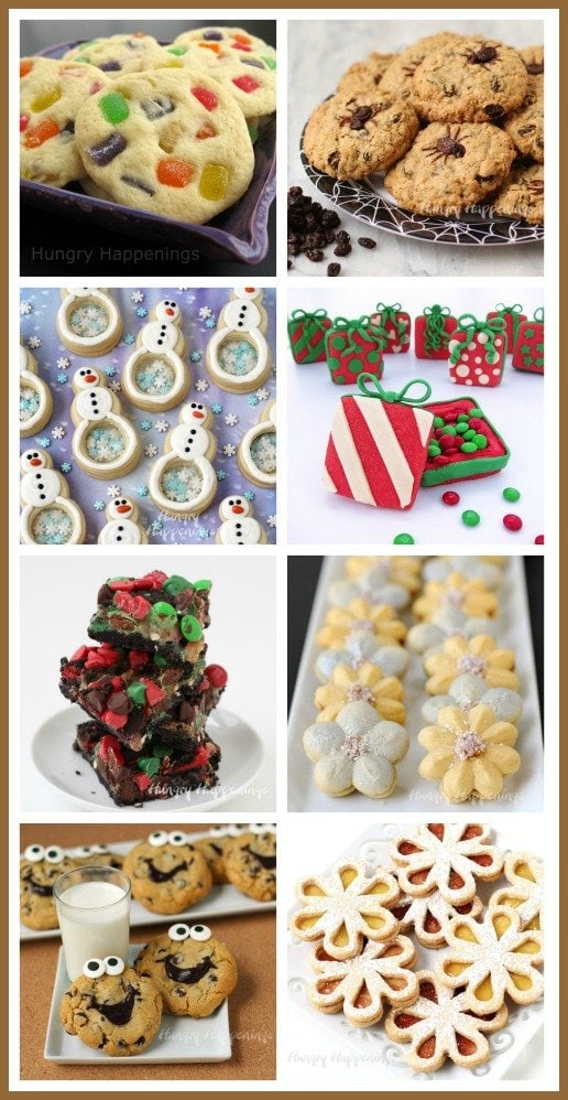 Bake a festive assortment of Christmas cookies this holiday season. See all the recipes at HungryHappenings.com