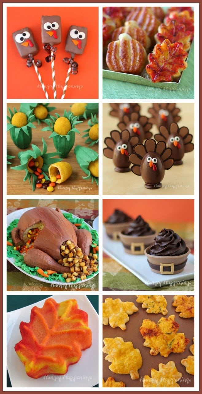 Make your holiday more fun by serving these festive Thanksgiving foods. Find the recipes and tutorials at HungryHappenings.com.