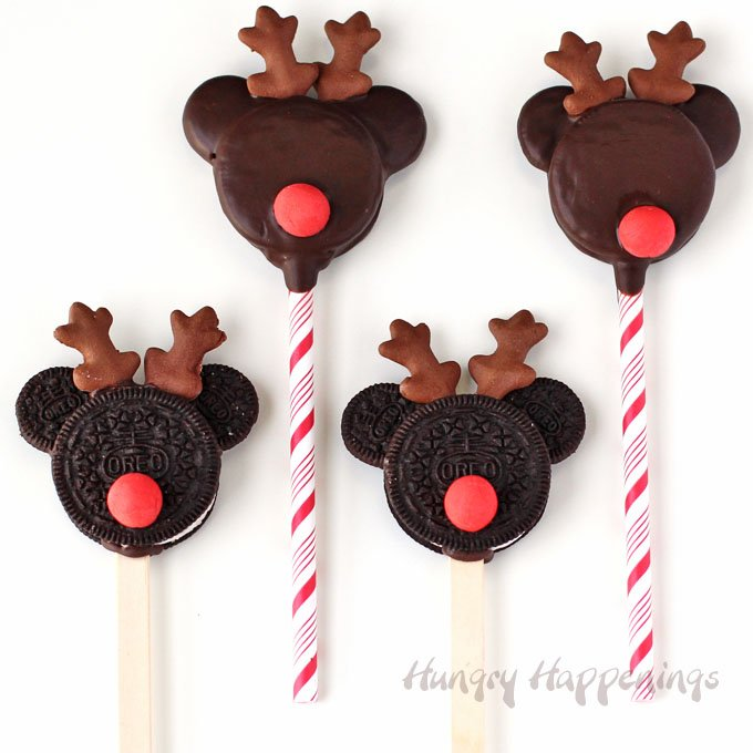 Mickey Mouse Rudolph Oreo Cookie Pops