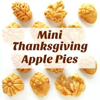 Mini Thanksgiving Apple Pies in Acorn, Leaf, and Pumpkin Shapes