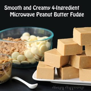Take one bite of this fudge and you'll fall in love. This Easy Microwave Peanut Butter Fudge is the creamiest, dreamiest, peanut butteriest fudge you'll ever eat and it takes minutes to make.