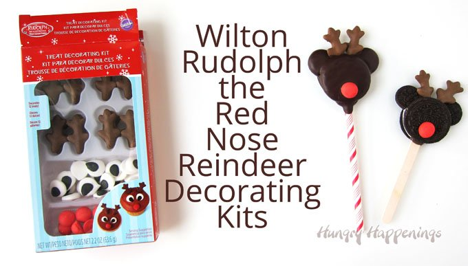 Use Wilton Rudolph the Red Nose Reindeer Decorating Kits to make cute Mickey Mouse Rudolph Oreo Cookie Pops for Christmas.