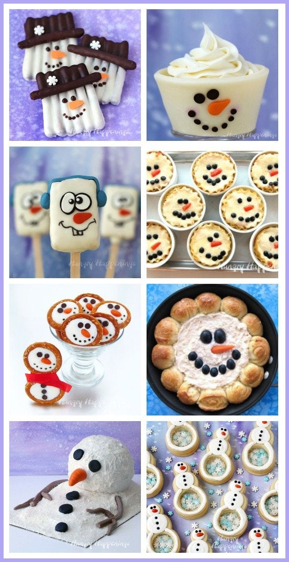 Warm the hearts of family and friends on a chilly winter's day by making them some of these adorably cute snowmen treats and recipes.
