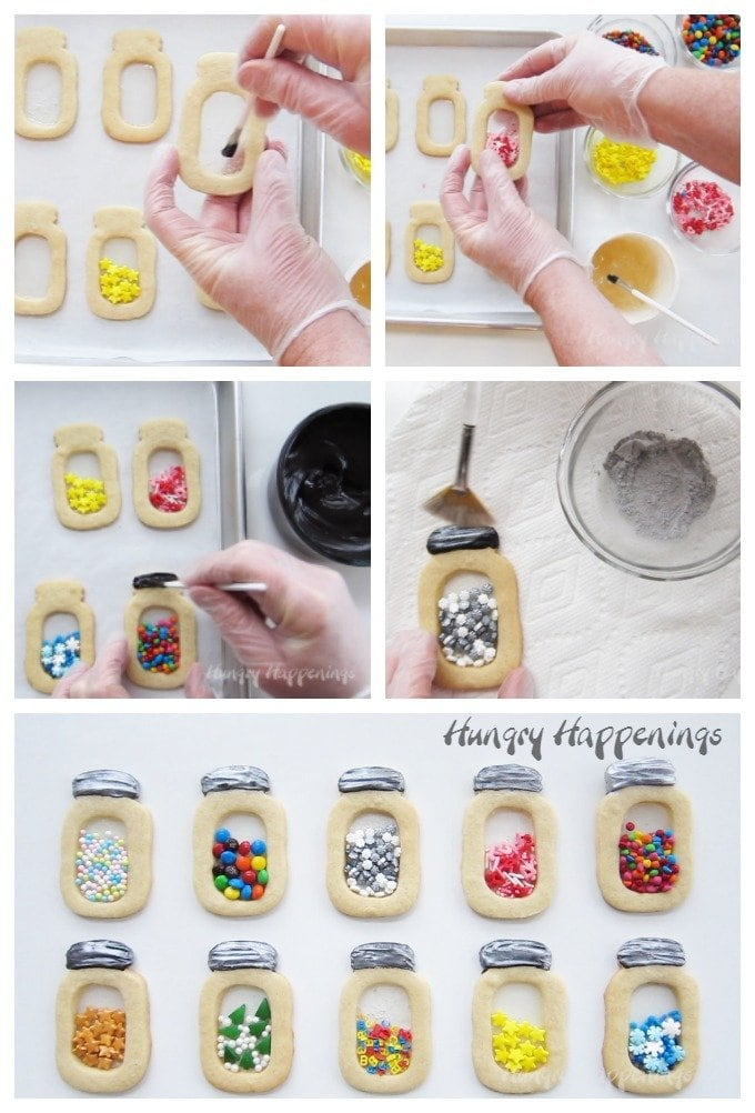 How to make Mason Jar Cookies with Edible Candy Glass.