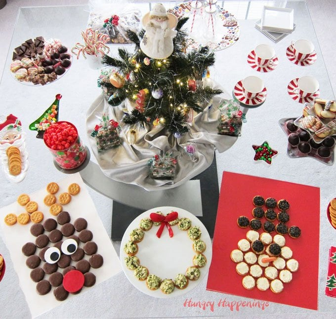 Dress up your Christmas party table with these festive RITZ Cracker dessert and appetizer displays.