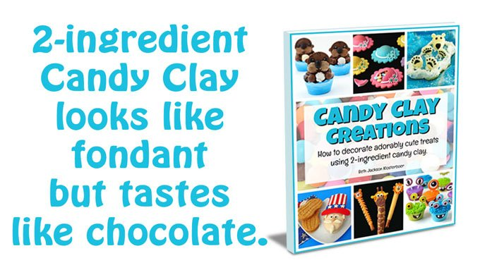 Candy Clay (modeling chocolate) looks like fondant but tastes like CHOCOLATE and is easy to make using 2 ingredients.