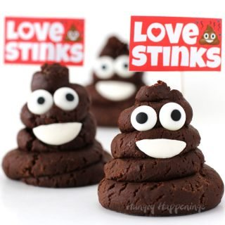 Chocolate Caramel Fudge Smiling Poo Emoji – Love Stinks Valentine Treats