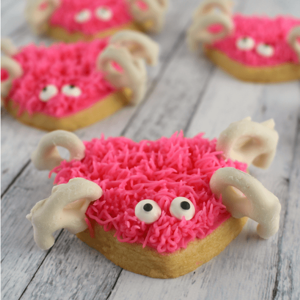 These cute Love Bug Sugar Cookies are perfect for Classroom Valentine's Day treats