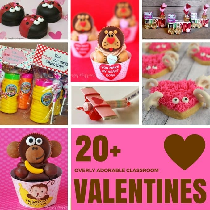 "Want to make the children in your life feel super special this Valentine's Day? Just pick one of these 20 Adorable Classroom Valentines and watch all their friends squeal with delight. All you will hear is ""Awwwwww."""