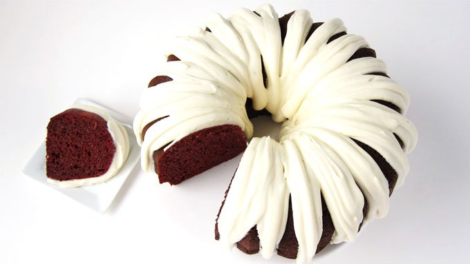 Red Velvet Pound Cake with Cream Cheese Frosting
