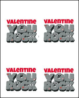 Print and cut out these Valentine You Rock printables to add to the top of bags filled with Cookies 'n Cream Fudge Rocks.