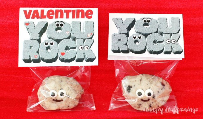 photo relating to You Rock Valentine Printable known as Lovable Cookies n Product Fudge Rocks with \