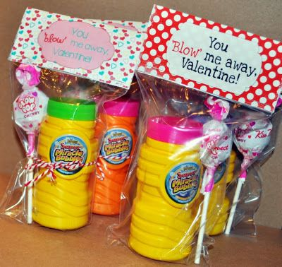 You Blow Me Away Valentine printables added to bubbles and blow pops make the most adorably sweet Classroom Valentines