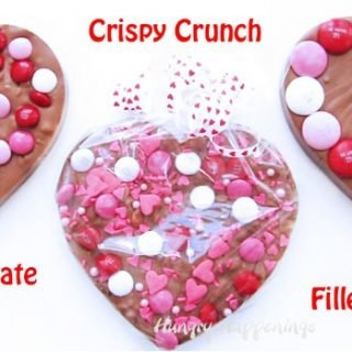 Chocolate Bark Hearts for Valentine's Day – Toffee, Crispy Crunch & Caramel