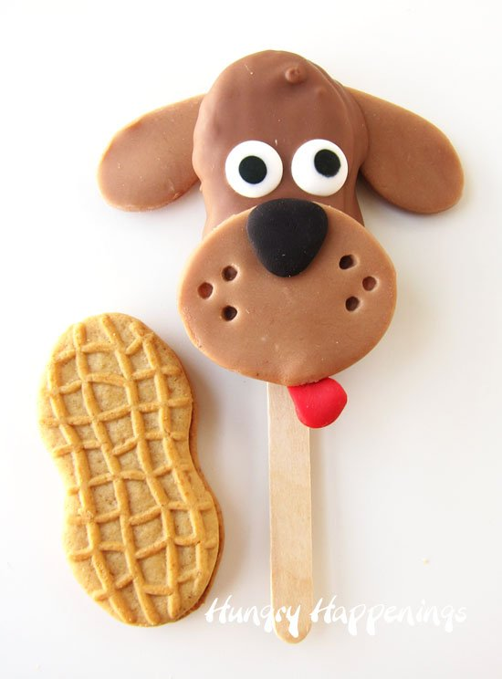 Chocolate Nutter Butter Puppy Pops