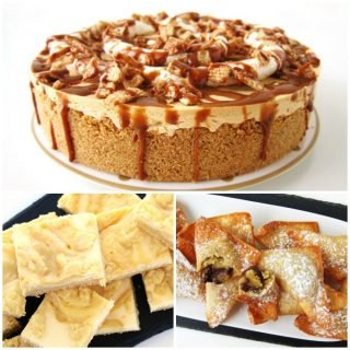 3 Everyday Desserts You've Just Got to Try – Dulce de Leche Cheesecake, Lemon Cheesecake Bars, and Cookie Dough Wontons