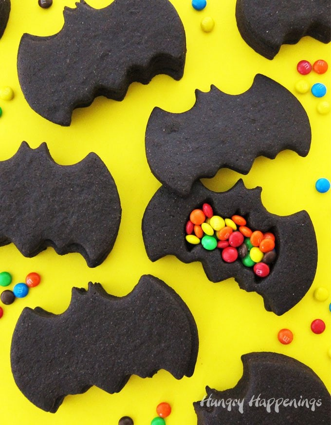 Break open a Batman Piñata Cookie to find M&M Minis hiding inside. These fun cookies will make great party favors or desserts for your Batman themed party.
