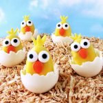 These darling Reese's Hatching Chicks will bring smiles to everyone who see's them. Made from Yellow Reese's Peanut Butter Cup Eggs, these Easter treats could not be any cuter.