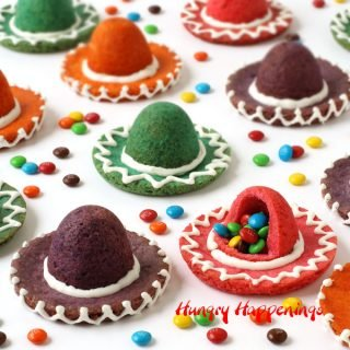 Sombrero Cookies filled with Candy