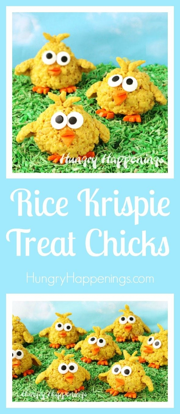 Have some fun with a simple cereal treat recipe this Easter by shaping and decorating them to look like bright yellow Rice Krispie Treat Chicks. In no time at all you can bring life to a whole clutch of these adorable baby chicks.