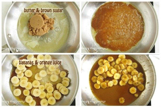 Caramelized bananas recipe.