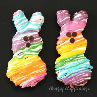 Rainbow Peeps Cereal Treats