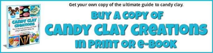 The ultimate guide to making and decorating with candy clay. This 102 page book is filled with tips, tricks, and tutorials.